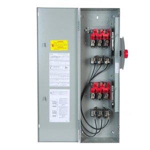 GE TDT3325 Safety Switch, Double Throw, Type TC, 400A, 240VAC, NEMA 1
