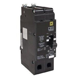 Square D EDB24020 Breaker, Bolt On, 2P, 20A, 480Y/277VAC, 18kAIC, Thermal Magnetic