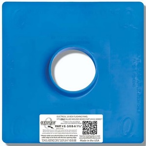Quickflash E-3/0B-A-1-3/8 Steel Box Flashing Panel, Vertical Mount, Blue, Non-Metallic