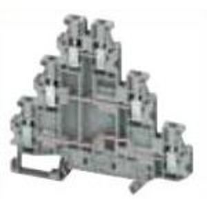Square D NSYTRV26T Terminal Block, Triple Deck, 3P, 2.5mm, Gray, 500VAC, 24A