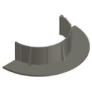 """Chemlink F1350 E-CURB Diameter Round, 6"""", Gray"""