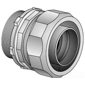 """EGS 4QS-50T Liquidtight Connector, Straight, 1/2"""", Insulated, Steel"""