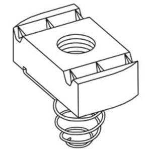 Cooper B-Line N528ZN Spring Nut, 3/8-16, Steel/Zinc Plated