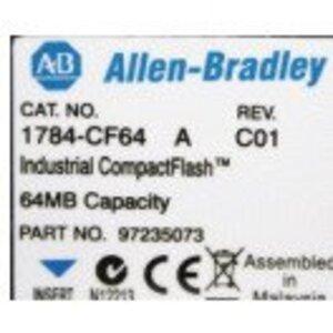 Allen-Bradley 1784-CF128 Memory Card, CompactFlash, ControlLogix, 128Mb Memory
