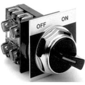 GE Industrial CR104PSG21B91A Selector Switch, 2 Position, Knob, Maintained, 1NO/1NC Contact, Kit