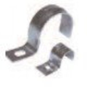 "Dottie TW250 Pipe Strap, 1-Hole, Size: 2-1/2"", Material/Finish: Steel/Zinc"