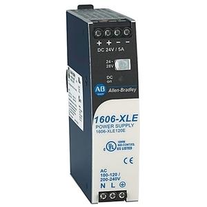 Allen-Bradley 1606-XLE120E Power Supply, 120W, 24 - 28VDC, Output, 120/240V AC Input
