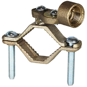 "Dottie 271H 1-1/4 To 2"" Ground Clamp With 3/4"" Hubs Bronze"
