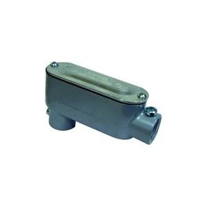 "Dottie LL75CG Conduit Body, Type LL, 3/4"", Cover/Gasket, Aluminum"