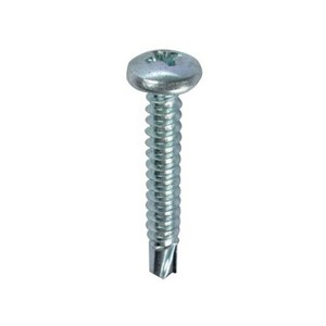 "Dottie TEKPH102 Self-Drilling Screw, Pan Head, Phillips, #10 x 2"", Zinc Plated Steel"