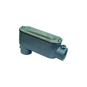 "Dottie LR75CG Conduit Body, Type LR, 3/4"", Cover/Gasket, Aluminum"