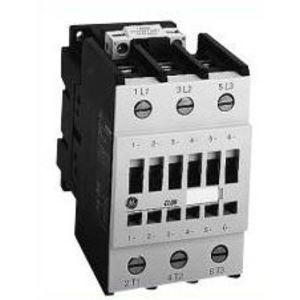 GE CL02D400TD Contactor, IEC, 17.5A, 460V, 3P, 24VDC Coil, 4NO Auxiliary
