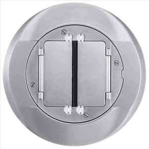 "Hubbell-Kellems S1CFCAL Round Cover, Diameter: 5"", Type: Universal, Aluminum"