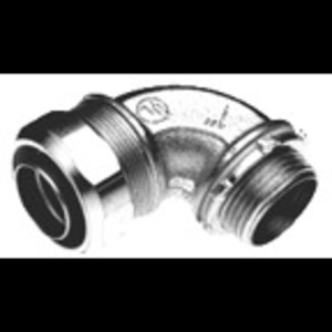"Bridgeport Fittings 471-SLTUS Liquidtight Connector, 90°, 3/4"", Non-Insulated, Malleable Iron"