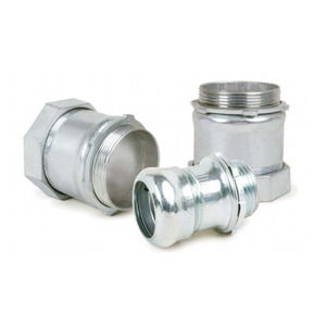 """AFC 0215-10-00 EMT Compression Connector, 1-1/4"""", Insulated, Concrete Tight, Steel"""