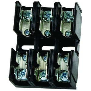 Littelfuse L60030M-3SQ Fuse Block, 30A, 3P, 600V, Midget Series, Screw QC Terminals