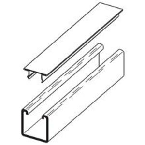 """Cooper B-Line B217-20GALV120 Snap Closure Strip for 1-5/8"""" Wide Channels, Steel, 10'"""
