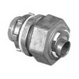 "EGS LMM-11 Liquidtight Connector, Straight, 1/2"", Die Cast Zinc"