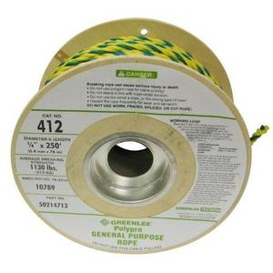 Greenlee 412 1130 lbs Poly Pro Pull Rope - Length: 250ft