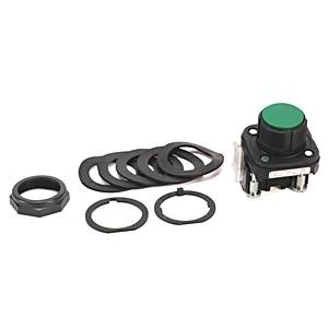 Allen-Bradley 800H-AR1A Push Button, Bootless Flush Head, Green, 1NO/1NC, Contacts