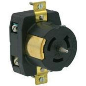 Leviton CS8269 Locking Receptacle, 50A, 250V, California Style, 2P3W