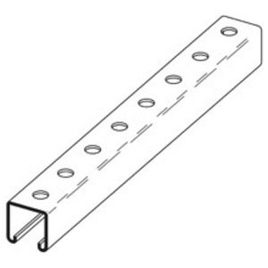 "Cooper B-Line B22H17/8-120GLV Channel - Bolt Holes, 1-7/8"" Centers, Steel, Pre-Galvanized, 1-5/8"" x 1-5/8"" x 10'"