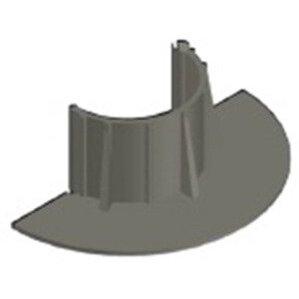 """Chemlink F1331 E-CURB Diameter Round, 3"""", Gray"""