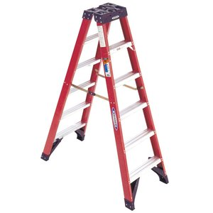 Werner Ladder T6308 8' Twin Step Ladder, 300 lbs