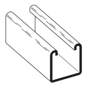 """Eaton B-Line B22-240GLV Channel - No Holes, Steel, Pre-Galvanized, 1-5/8"""" x 1-5/8"""" x 20'"""