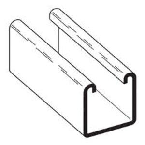"Cooper B-Line B22-240GLV Channel - No Holes, Steel, Pre-Galvanized, 1-5/8"" x 1-5/8"" x 20'"