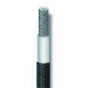 Coleman Cable C0146A-05-01 Silicone Rubber Glass Fixture Wire, 14 AWG Stranded Copper, White, 500'