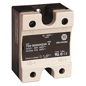 Allen-Bradley 700-SH50GZ24 Relay, Solid State, Optocoupler, 50A, 24-265VAC, 3-32VDC Coil