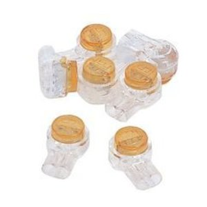 Ideal 85-950 Butt Connector, 26 - 19 AWG, 2-Wire, Moisture Resistant, Yellow, 25/PK