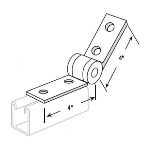 Superstrut Q205-EG Hinged Bracket, Long, Steel