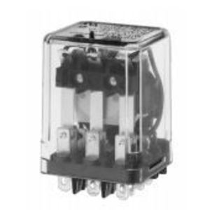 Tyco Electronics KUP-14D15-24 Relay, Ice Cube, Enclosed, 10A, 11-Blade, 3PDT, 24VDC Coil