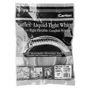 Carlon WCE6 6' Non-Metallic Liquidtight Fixture Whip, 8 AWG Stranded