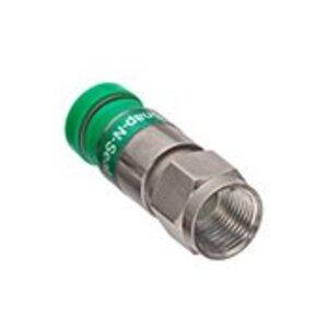 Leviton 40985-CPF F-Connector, RG6, Compression, Green Color Code Band