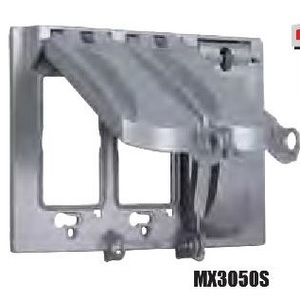 Hubbell-TayMac MX3050S Weatherproof Cover, 3-Gang, Type: 125 in 1, Horizontal Mount, Aluminum