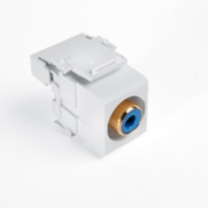 Leviton 40735-RLW RCA-110 QuickPort Snap-In Connector, Blue