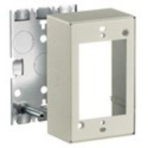 Hubbell-Wiring Kellems HBL5747IVA Raceway Switch/Receptacle Box, Shallow, 1 Gang, Steel, Ivory