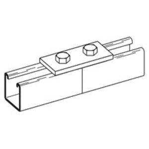 "Cooper B-Line B129ZN Two Hole Splice Plate, Length: 3-1/2"", Steel/Zinc Plated"