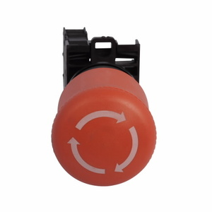 Eaton M22-PVT-K12-P Push Button, Twist to Release, E-Stop, Red, 1NO/2NC Contact, 22.5mm
