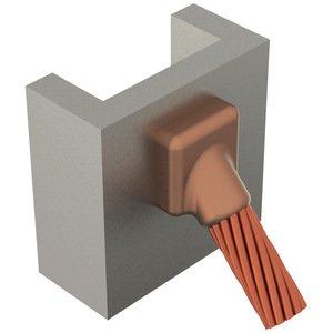 Erico Cadweld CAVST1GB Mold,cable To Vert Stl,45 Deg Tap Down