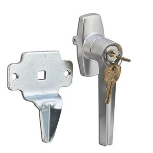 Hoffman AL2A Latch Kit, One Point, Opens Clockwise, Steel