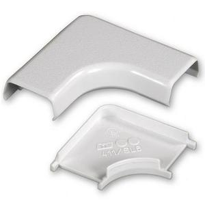 Wiremold 411 90° Flat Elbow / 400 Series Raceway, PVC, Ivory