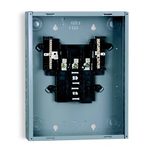 Square D QO312L125G Load Center, Main Lug Only, 125A, 240VAC, 3PH, 12/12, NEMA 1, 65kA