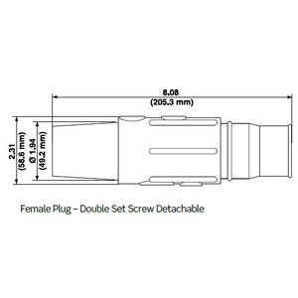 Leviton 17D23-B Female, Plug, Cam-Type, Double Set Screw, 250-350 MCM, Blue