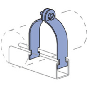 Unistrut P2008-EG One Hole O.d. Tubing Clamp
