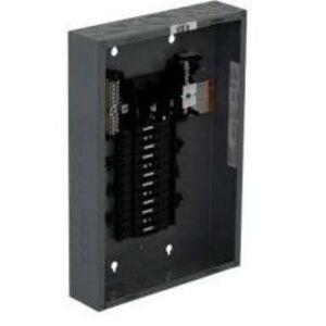 Square D QO324L125G Load Center, Main Lug Only, 125A, 240VAC, 3PH, 24/24, NEMA 1, 65kA