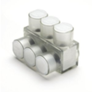 Burndy BIBS2/06 Multi-Tap Connector, 6-Port, Insulated, Clear, 14 - 2/0 AWG, 1-Sided